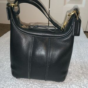 Coach black leather small bag